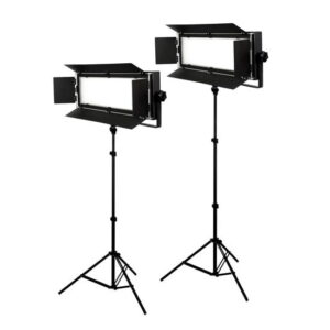 Bresser LED Foto-Video Set  2x LG-900 54W/8.860LUX + 2x Statiefsmallrig