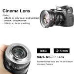 MEIKE 16MM T2.2 MANUAL FOCUS CINEMA PRIME LENS (MICRO 4/3 MOUNT)